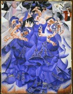 """SEVERINI Gino, """"Danseuse bleue"""" , 1912, huile sur toile avec paillettes, 61x46cm, Musée de l'Orangerie, Paris"""