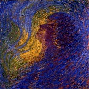 """RUSSOLO Luigi, """"Le parfum"""" , 1910, huile sur toile, 65,5x64,5cm, Musée Ludwig, Cologne"""